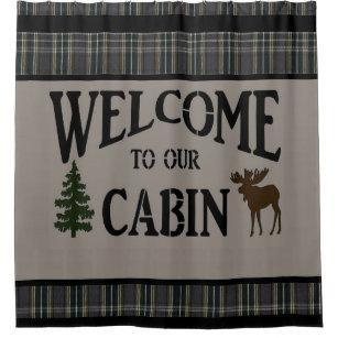 Lodge Cabin SHOWER CURTAIN