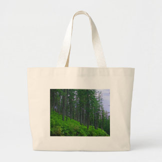 Lodge pole forest large tote bag