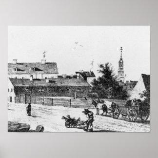 Lodging at the Rosenthaler gate Poster