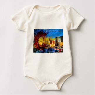 LoDo Denver with Colorado Flag Baby Bodysuit