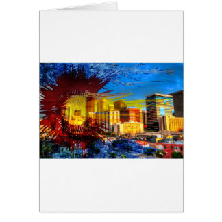 LoDo Denver with Colorado Flag Card