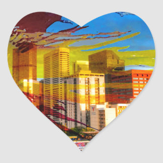 LoDo Denver with Colorado Flag Heart Sticker