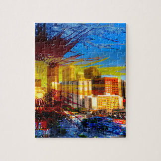 LoDo Denver with Colorado Flag Jigsaw Puzzle