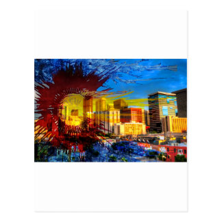 LoDo Denver with Colorado Flag Postcard