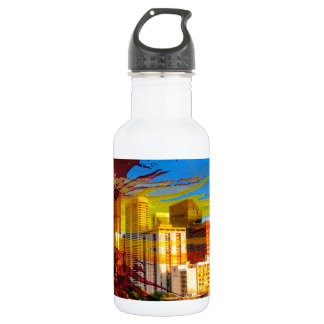 LoDo Denver with Colorado Flag Stainless Steel Water Bottle