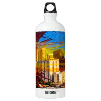 LoDo Denver with Colorado Flag Water Bottle