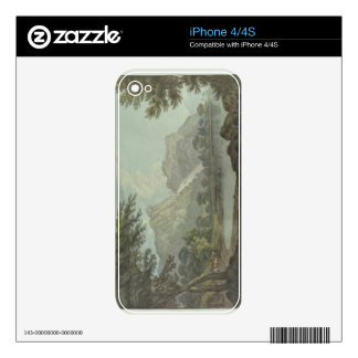 Lodore Rocks - fall & cottage distance (pen & ink Decal For iPhone 4