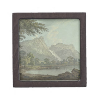 Lodore Rocks - fall & cottage distance (pen & ink Gift Box