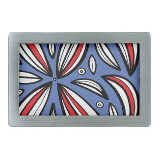 Loft Abstract Expression Red Blue Belt Buckles