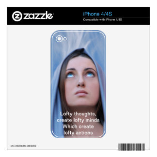 Lofty Thoughts Skin For iPhone 4