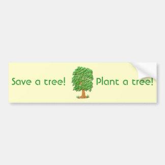 Lofty Tree Car Bumper Sticker