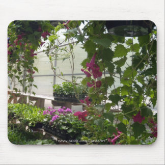 Lofus Blossom Greenhouse Mousepads