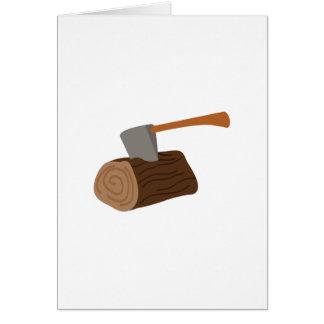 Log & Axe Greeting Card