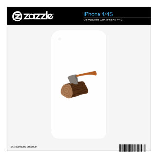 Log & Axe Skin For iPhone 4S