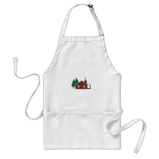 Log Cabin Adult Apron