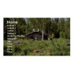 Log Cabin along the Nowitna River Business Card Templates