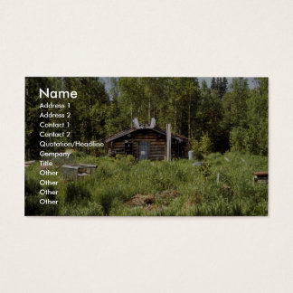 Log Cabin along the Nowitna River Business Card