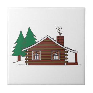 Log Cabin Ceramic Tile