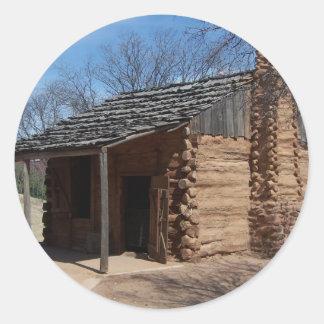 Log Cabin Classic Round Sticker