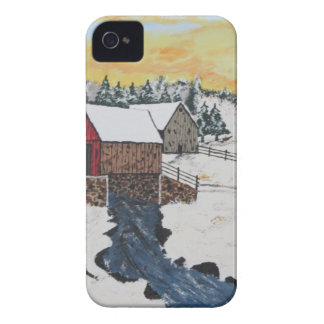 Log Cabin Covered Bridge iPhone 4 Cover
