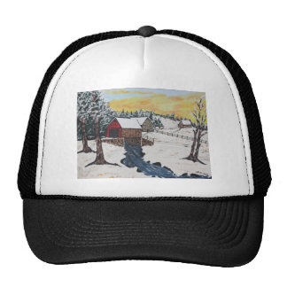 Log Cabin Covered Bridge Trucker Hat
