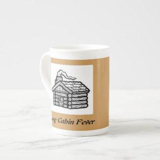 log cabin fever tea cup
