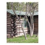 Log cabin, Grand Canyon North Rim, Arizona, USA Letterhead Template