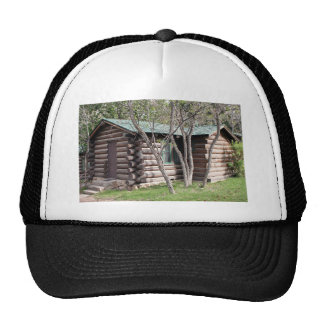 Log cabin, Grand Canyon North Rim, Arizona, USA Trucker Hat