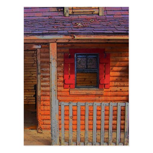 Log Cabin Home Post Card