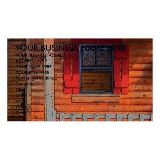 Log Cabin House Business Card