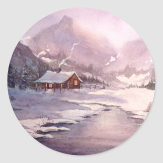 LOG CABIN & ICE by SHARON SHARPE Stickers