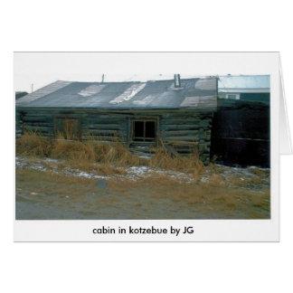 LOG CABIN IN KOTZ (2), cabin in kotzebue by JG Card