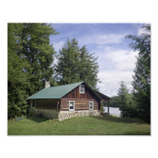 Log Cabin in the Pines Photo Print