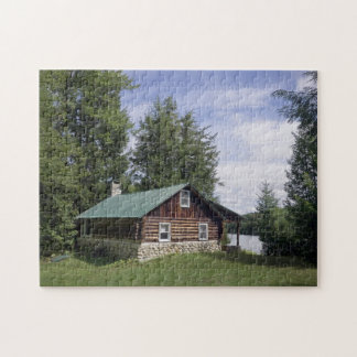 Log Cabin in the Pines Puzzle