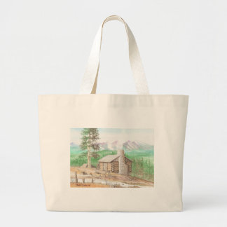 Log cabin in the Woods Canvas Bag
