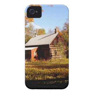 Log Cabin in the Woods iPhone 4 Case-Mate Case