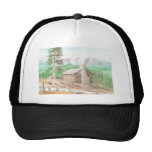 Log cabin in the Woods Mesh Hat
