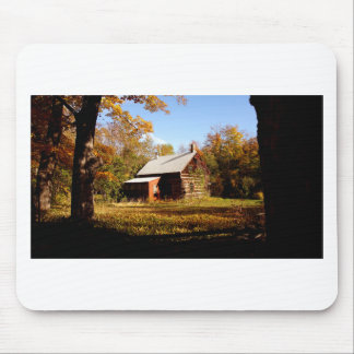 Log Cabin in the Woods Mouse Pad