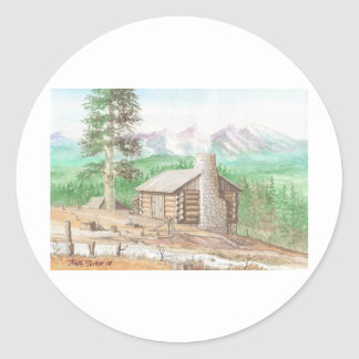 Log cabin in the Woods Sticker