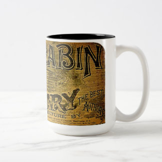 Log Cabin Library Two-Tone Coffee Mug