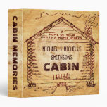 Log Cabin Personalized Faux Wood 3 Ring Binders