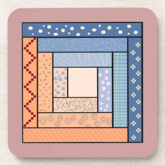Log Cabin Quilt Coasters