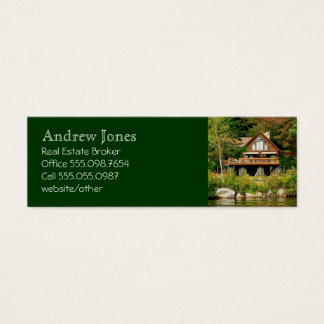 Log Cabin Realtor's Custom Business Card