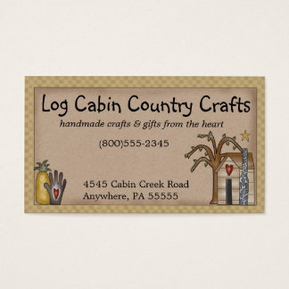 Log Cabin Rustic Primitive Country Business Card