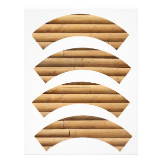 Log Cabin Siding Background Cupcake Wrapper Letterhead Design