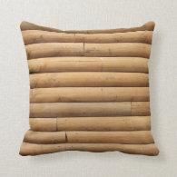 Log Cabin Siding Background Pillow