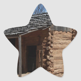 Log Cabin Star Sticker