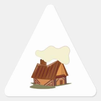 Log Cabin Triangle Stickers