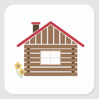 Log Cabin Stickers