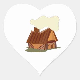 Log Cabin Heart Stickers